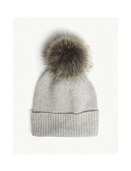Pom Pom Cashmere Beanie Hat by Helen Moore