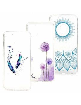 3 X Case For Huawei Honor 9 Lite, Transparent Cover Tpu Silicon Rubber Thin Flexible Shockproof Bumper Shell   Feather, Dandelion, Totem by Beaulife