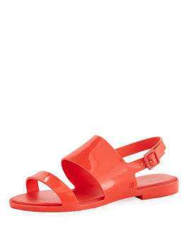 Classy Two Band Slingback Sandal by Melissa Shoes