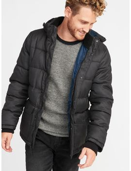 Quilted Detachable Hood Heritage Jacket For Men by Old Navy