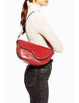 Demi Croc Shoulder Bag by Topshop
