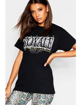 Tall Snake Print Slogan Tshirt by Boohoo