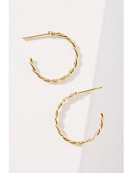 Violet Twisted Hoop Earrings by Anthropologie