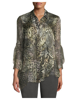 Layla Animal Print Silk Blouse by Elie Tahari