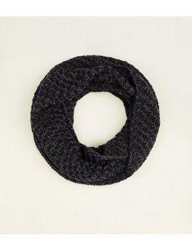 Light Grey Chevron Loop Knit Snood by New Look