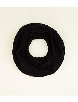 Black Chevron Loop Knit Snood by New Look