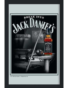 Empire Merchandising 537706 Printed Mirror With Plastic Frame With Wood Effect Featuring Jack Daniel's Whiskey On Billiards Table 20 X 30 Cm by Empire Merchandising