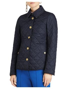 Diamond Quilted Button Front Jacket by Burberry