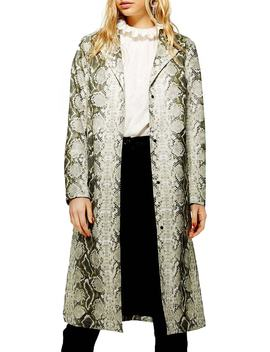 Rok It Snake Print Coat by Topshop