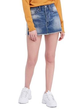 Rugged A Line Denim Miniskirt by Free People
