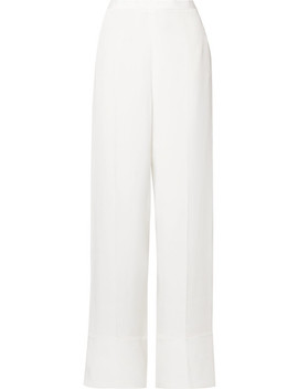 Silk Crepe De Chine Wide Leg Pants by Stella Mc Cartney