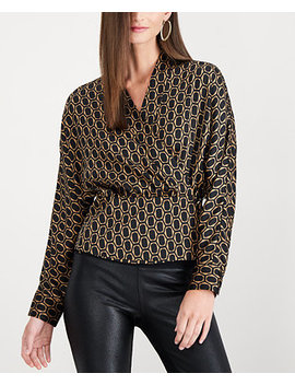 I.N.C. Printed Wrap Blouse, Created For Macy's by Inc International Concepts