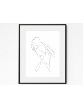 Nude Abstract Body Printable Art, Naked Woman Sketch Drawing, Single Line Body Form Figure, Scandinavian Black And White, Minimal Wall Art by Etsy