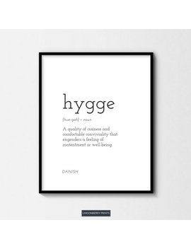 Hygge Definition Print   Digital Download   Danish Swedish Scandinavian Nordic   Minimal Wall Art by Etsy