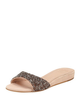 Elodie Glitter Wedge Sandals by Tory Burch