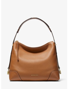 Crosby Large Pebbled Leather Shoulder Bag by Michael Michael Kors