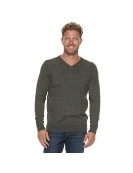 Men's Sonoma Goods For Life™ Modern Fit Supersoft V Neck Sweater by Kohl's