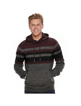 Men's Urban Pipeline® Striped Pull Over Hoodie Sweater by Urban Pipeline