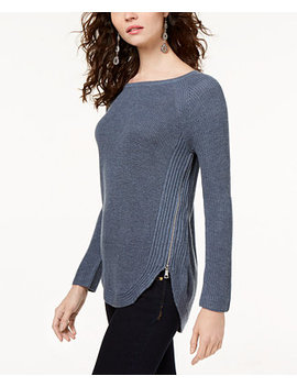 I.N.C. Waffle Knit Side Zip Tunic Sweater, Created For Macy's by Inc International Concepts