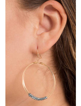Candy Shop Gold Hoop Earrings by Tobi