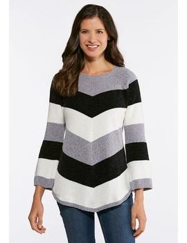 Stripe Chenille Sweater by Cato