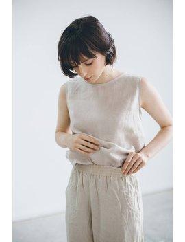 Basic Linen Top / Linen Tank Top / Linen Blouse / Linen Shirt / #18 Luna by Etsy