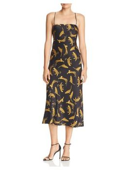 Conga Beat Printed Silk Midi Dress by Bec & Bridge