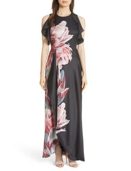 Ulrika Tranquility Ruffle Maxi Dress by Ted Baker London