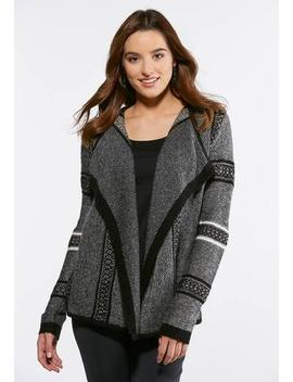 Shaded Gray Cardigan Sweater by Cato