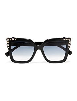 Studded Square Frame Acetate Sunglasses by Fendi