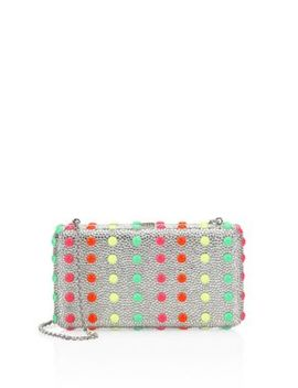 Crystal Dot Candy Airstream Clutch by Judith Leiber Couture