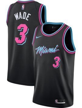 Nike Men's Miami Heat Dwyane Wade Dri Fit City Edition Swingman Jersey by Nike
