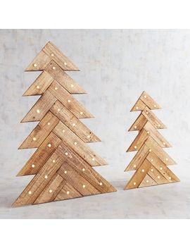 Led Light Up Wood Slat Tree Decor by Pier1 Imports