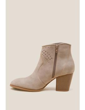Restricted High Rise Ankle Boot by Francesca's