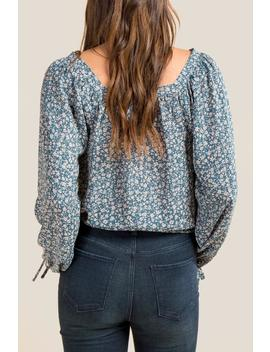 Shay Floral Button Front Blouse by Francesca's