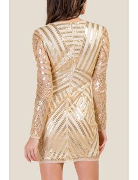 Savannah Patterned Sequin Dress by Francesca's