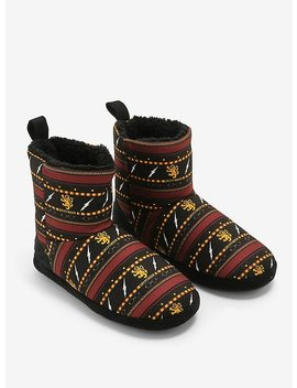 Harry Potter Gryffindor Slipper Boots by Hot Topic