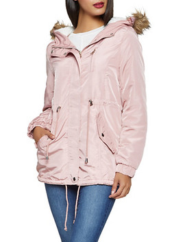 Sherpa Lined Hooded Anorak Jacket by Rainbow