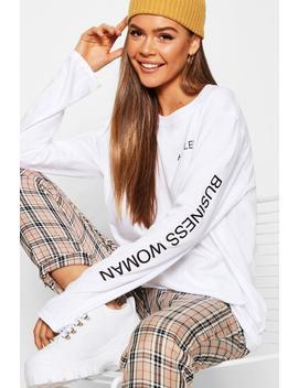 Hustler Long Sleeve Slogan T Shirt by Boohoo
