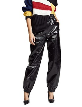 Faux Leather Joggers by Msgm