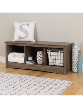 Havenside Home La Porte Drifted Grey Wood Cubby Bench by Havenside Home