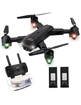 Schark Spark Drone Thunder With Camera Live Video, Rc Quadcopter With 2 Batteries, Easy To Operate For Beginners, Foldable Arms, 2.4 G 6 Axis, Headless Mode, Altitude Hold, One Key Take Off And Landing, by Schark Spark