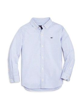 Boys' Plaid Oxford Whale Shirt   Little Kid, Big Kid by Vineyard Vines