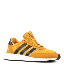 Adidas Men's Iniki Runner Yellow/Black White Goldenrod By9733 Shoe by Adidas