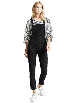 Washed Black Skinny Overalls by Madewell