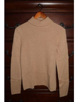 Women's Peck & Peck 100 Percents Cashmere Light Brown Turtleneck Sweater Size Small by Peck & Peck