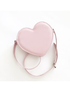 Pastel Pink Heart Faux Leather Crossbody Bag (Ready To Ship) by Etsy