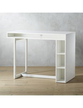 """Public White 36"""" Counter Dining Table by Crate&Barrel"""