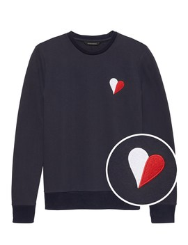 Classic Fleece Heart Sweatshirt by Banana Repbulic