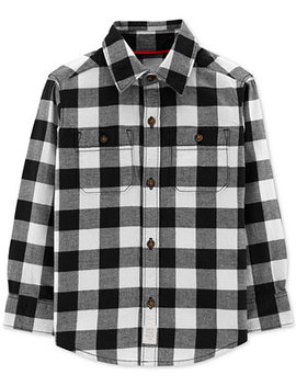 Toddler Boys Checked Cotton Shirt by Carter's